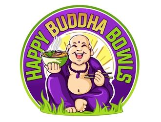 Happy Buddha Bowls logo design
