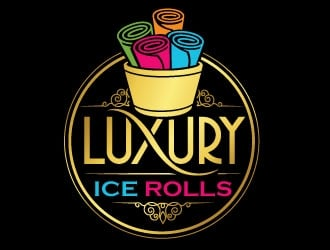 LUXURY ICE ROLLS logo design