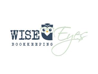 Wise Eyes Bookkeeping logo design