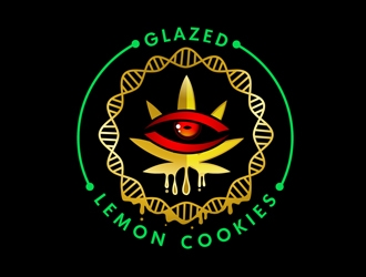Glazed Lemon Cookies  logo design