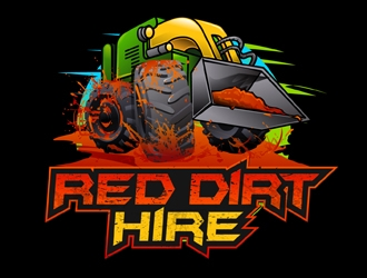 Red Dirt Hire logo design