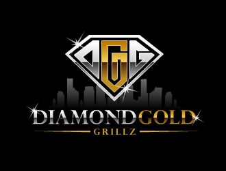 Diamond Gold Grillz  logo design