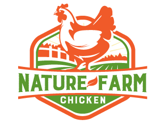 Nature Farm Chicken logo design