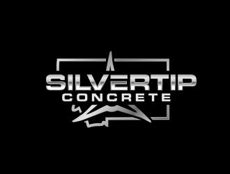 Silvertip Concrete logo design