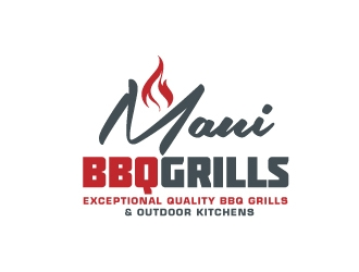 Maui BBQ Grills logo design