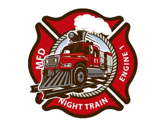 Night Train Engine 1 Logo Design 48hourslogo Com