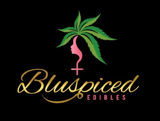 BluSpiced Edibles  logo design