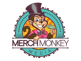 Merch Monkey Media logo design by ARALE