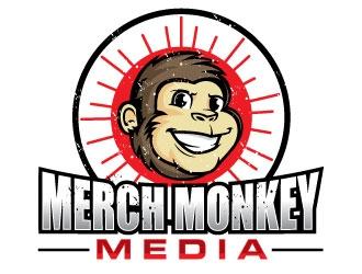 Merch Monkey Media logo design by invento
