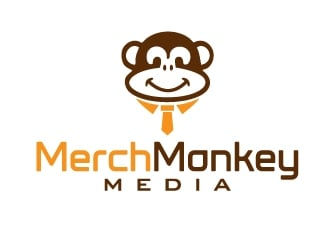 Merch Monkey Media logo design by Marianne