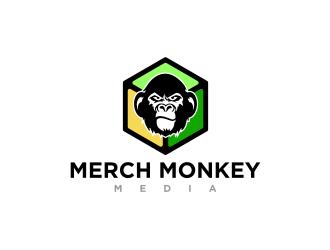 Merch Monkey Media logo design by mungki