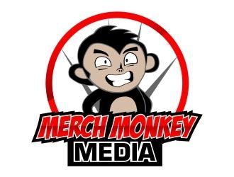 Merch Monkey Media logo design by mckris