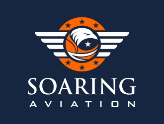 Soaring Aviation LLC logo design