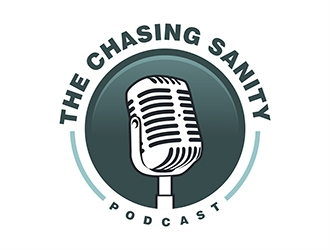 The Chasing Sanity Podcast logo design