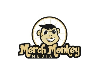 Merch Monkey Media logo design by lj.creative