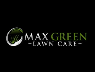MAX GREEN Lawn Care  logo design