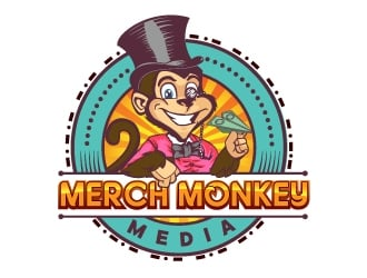Merch Monkey Media logo design