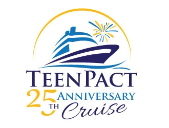 TeenPact 25th Anniversary Cruise logo design
