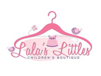 LaLas Littles logo design
