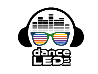 Dance LEDs  or danceLEDs.com or DanceLEDs.com logo design