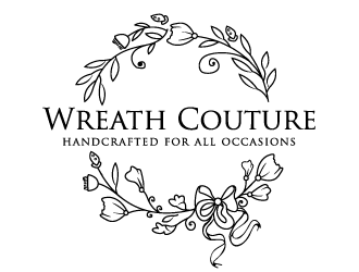 Wreath Couture logo design