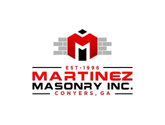 Martinez Masonry Inc. logo design