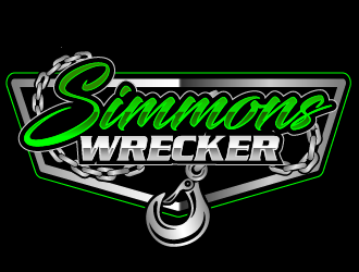 Simmons Wrecker logo design