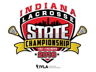 2018 Indiana Lacrosse State Championship logo design