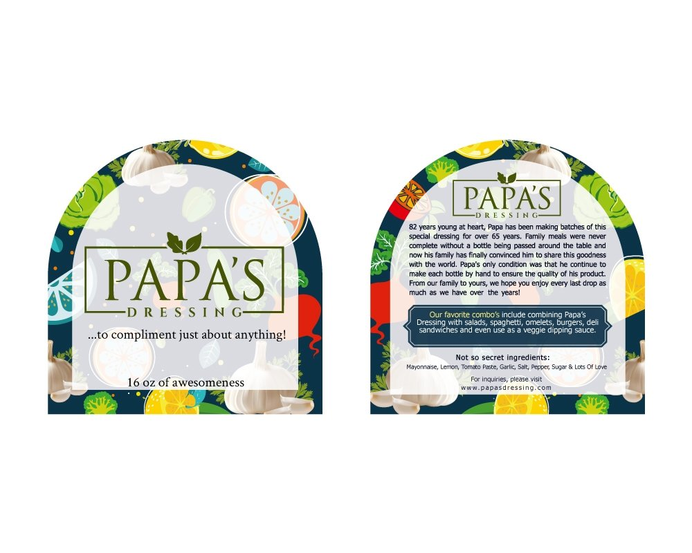 Papas Dressing logo design