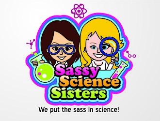 Sassy Science Sisters logo design
