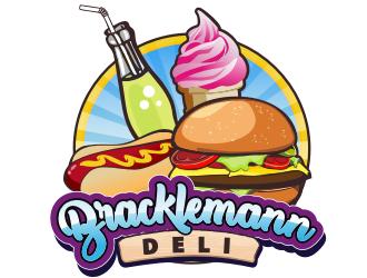 Bracklemann Deli logo design