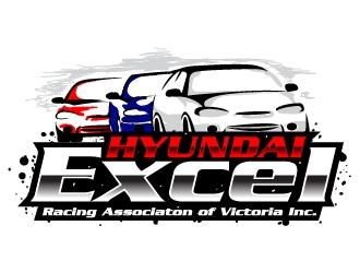 Hyundai Excel Racing Associaton of Victoria Inc logo design
