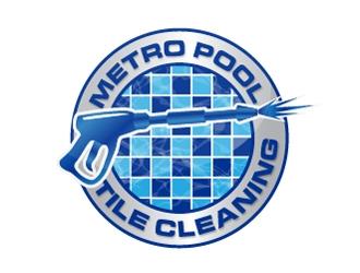 Metro Pool Tile Cleaning logo design