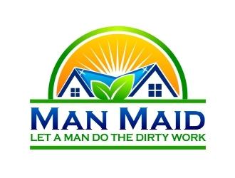 Man Maid logo design