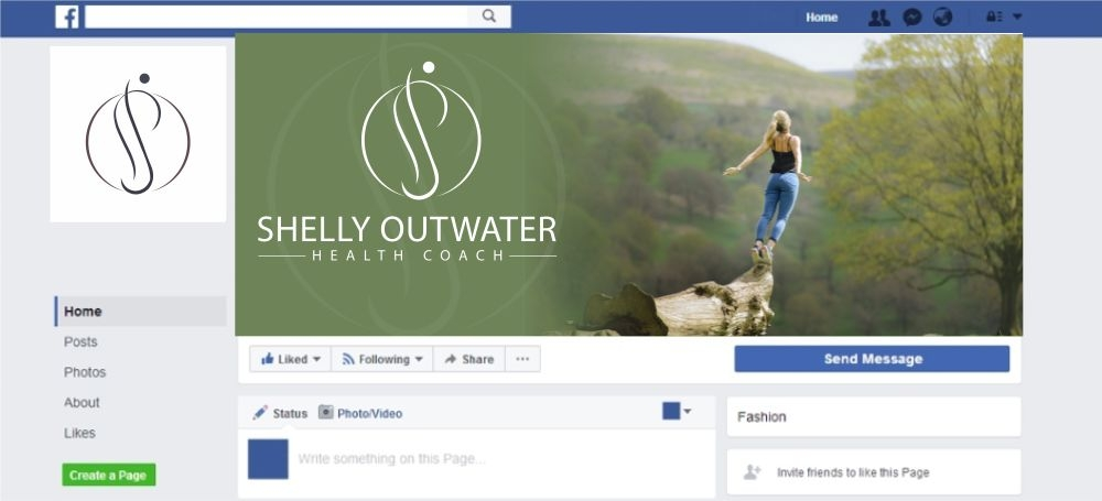 Shelly Outwater Health  and Vitality Coach logo design