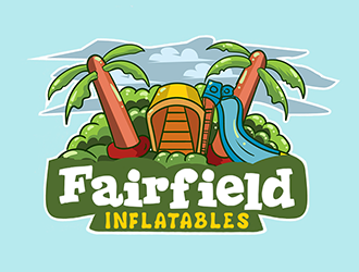 Fairfield inflatables logo design