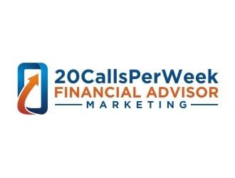 20CallsPerWeek Financial Advisor Marketing logo design