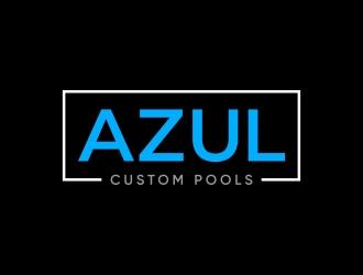 Azul Custom Pools logo design