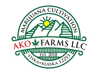 AK O FARMS logo design