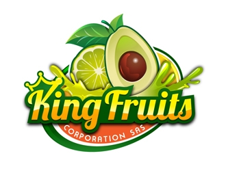 King Fruits Corporation SAS logo design