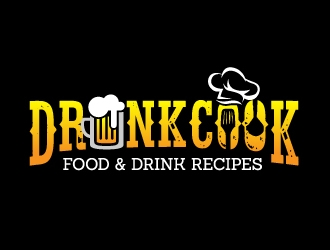 Drunk Cook logo design