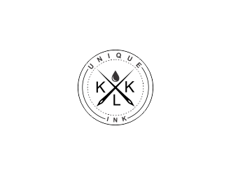 KLK Unique Ink logo design