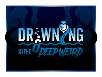 Drowning in the Deep Weird logo design