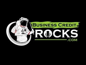Business Credit Rocks  logo design