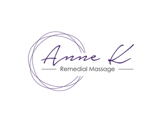 Anne K Remedial Massage logo design