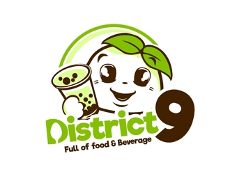 District 9 logo design