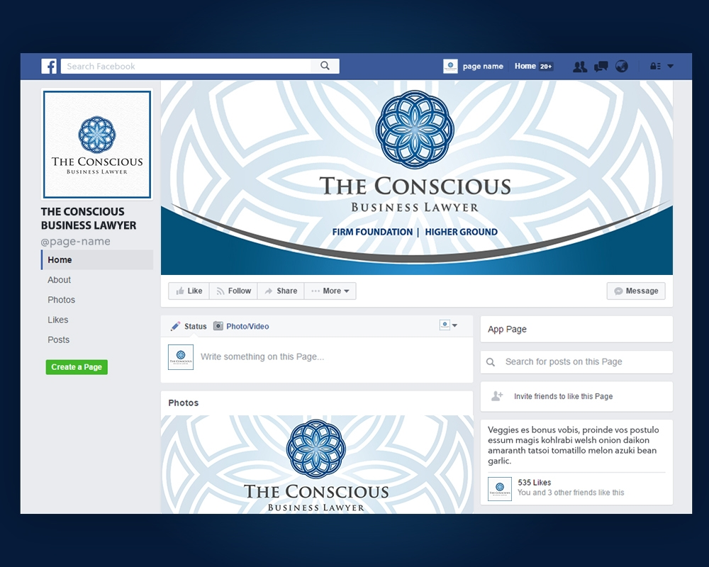 The Conscious Business Lawyer logo design