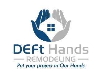 DEFt Hands Remodeling logo design