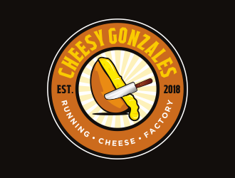 CHEESY GONZALES - running.cheese.factory logo design