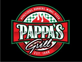 Pappa's Grill logo design